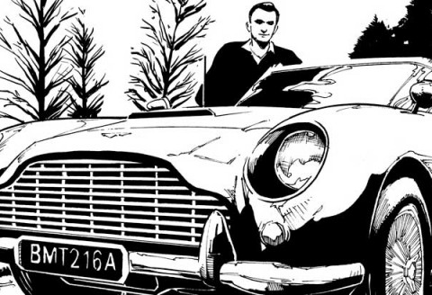 Commissioned Illustration : James Bond Aston Martin